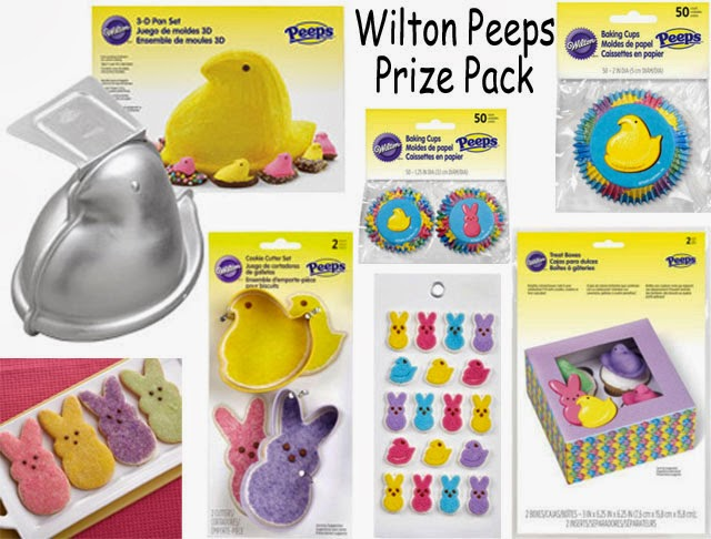 Wilton Peeps pan, baking cups, cookie cutters, treat boxes