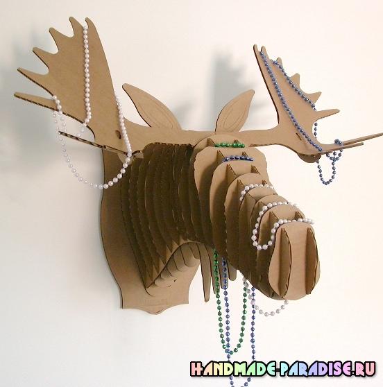 Рождественский олень из картона. Мастер-класс