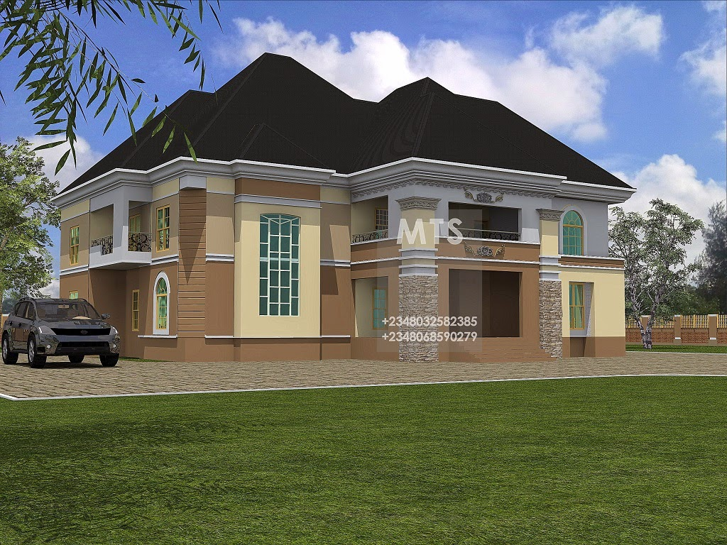 Mr ekong 6 bedroom duplex residential homes and public for 6 bedroom duplex house plans
