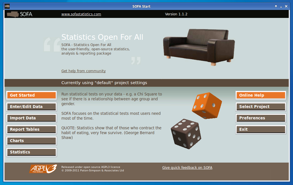 SOFA: Statistics Open For All