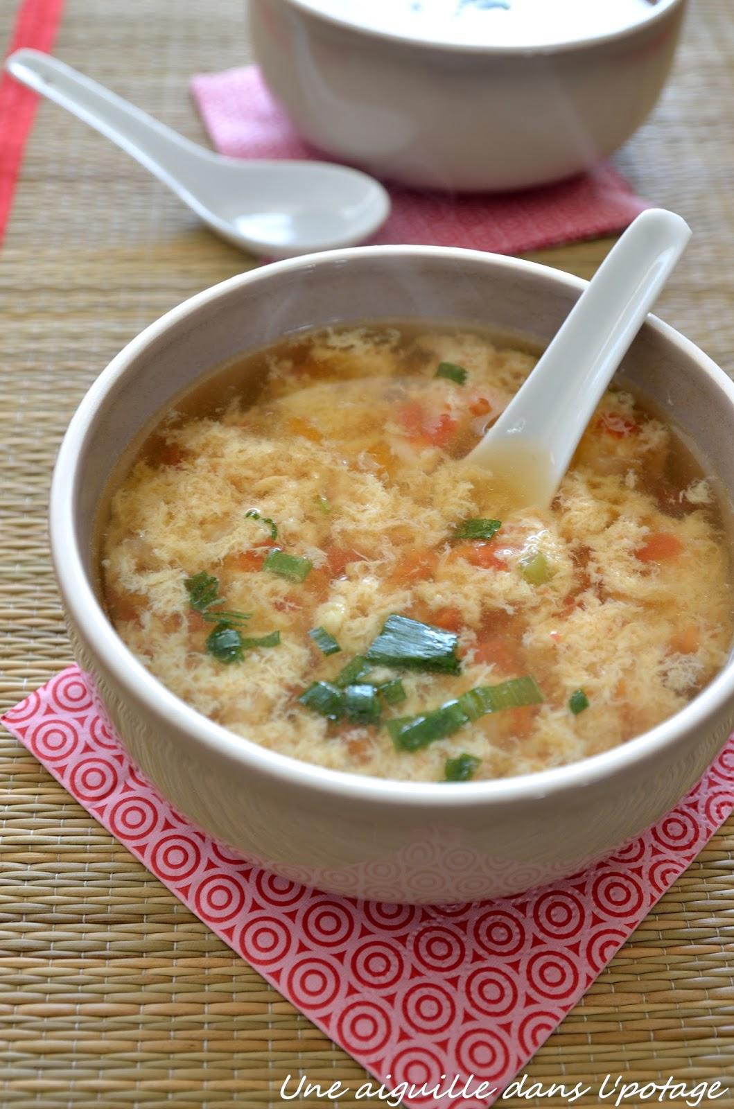 une aiguille dans l 39 potage soupe chinoise la tomate et l 39 oeuf battu. Black Bedroom Furniture Sets. Home Design Ideas