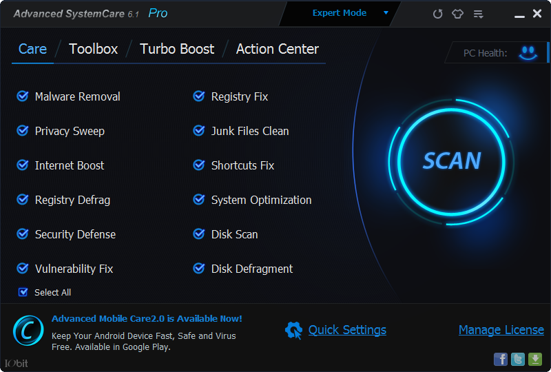Advanced SystemCare Pro 8.1 Full Version