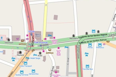Partas Cubao Map Map Partas Bus Station on Edsa