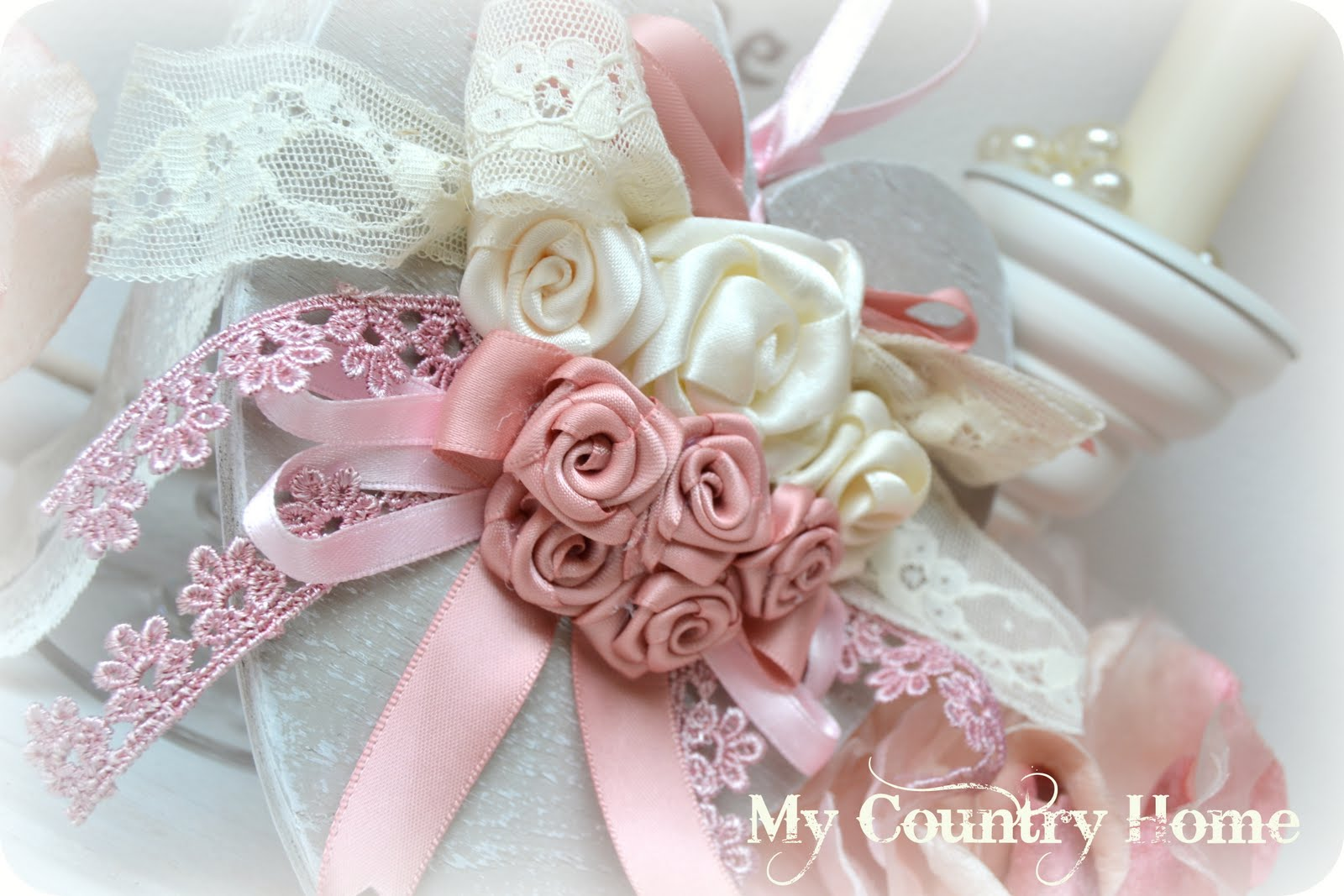 My country home cuore e rose 4 for Rose color rosa antico