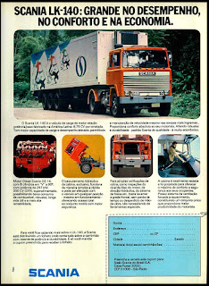 propaganda  caminhão Scania LK-140 - 1977; Saab Scania; trucks; reclame de carros anos 70. brazilian advertising cars in the 70. os anos 70. história da década de 70; Brazil in the 70s; propaganda carros anos 70; Oswaldo Hernandez;