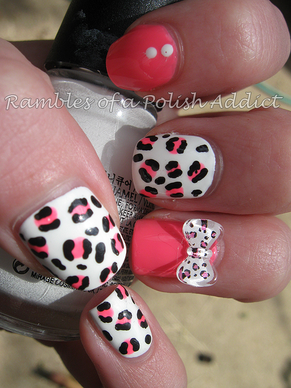 blue sea bow shaped 3d nail art sinful colors snow me white la colors pink bubbles animal print leopard