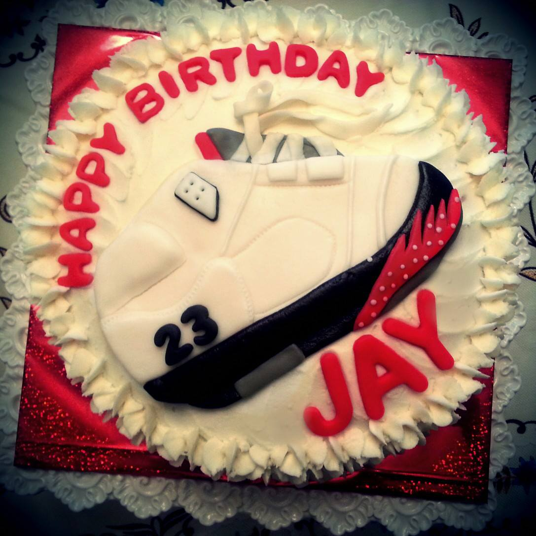 Jordan Sneaker Birthday Cake BAKERY CREATIONS BY JESSICA