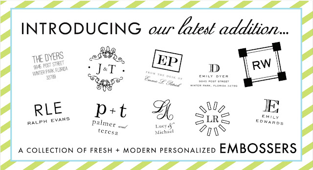 Paper & Ink Designs Personalized Embossers