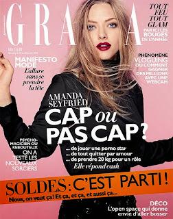 Magazine Cover : Amanda Seyfried Magazine Photoshoot Pics on Grazia Magazine France January 2014 Issue