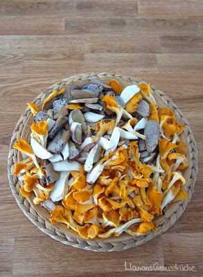 Viererlei Pilze