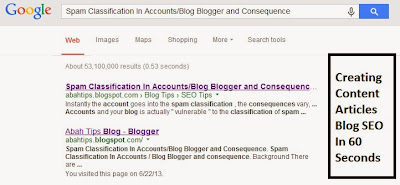 Creating Content Articles Blog SEO In 60 Seconds