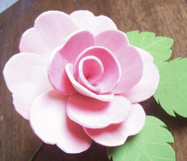 Como se hace una flor en foami - Imagui