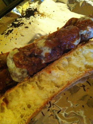 Garlic Bread Meatball Sandwiches