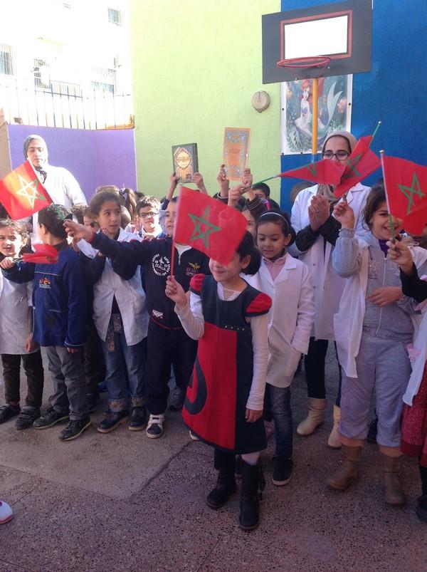 تخليد تلاميذ وأطرمؤسسة الكوثر للتعليم الخصوصي بفاس للذكرى الأربعين للمسيرة الخضراء