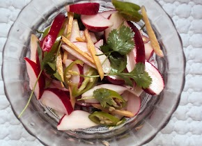 two salads with Radish...