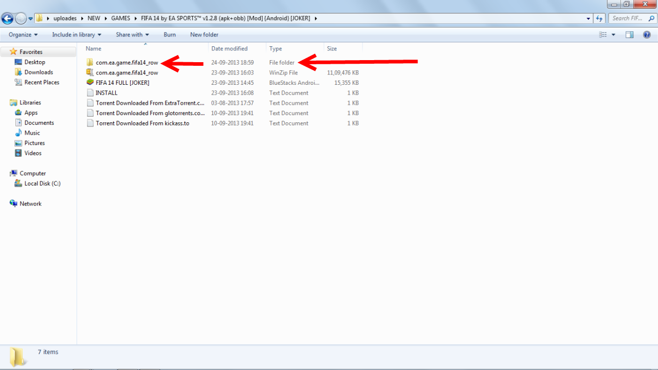 ... whole foldr (not only the obb file) and place in sdcard/android/obb