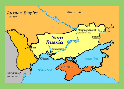 "A map of ""new Russia."""