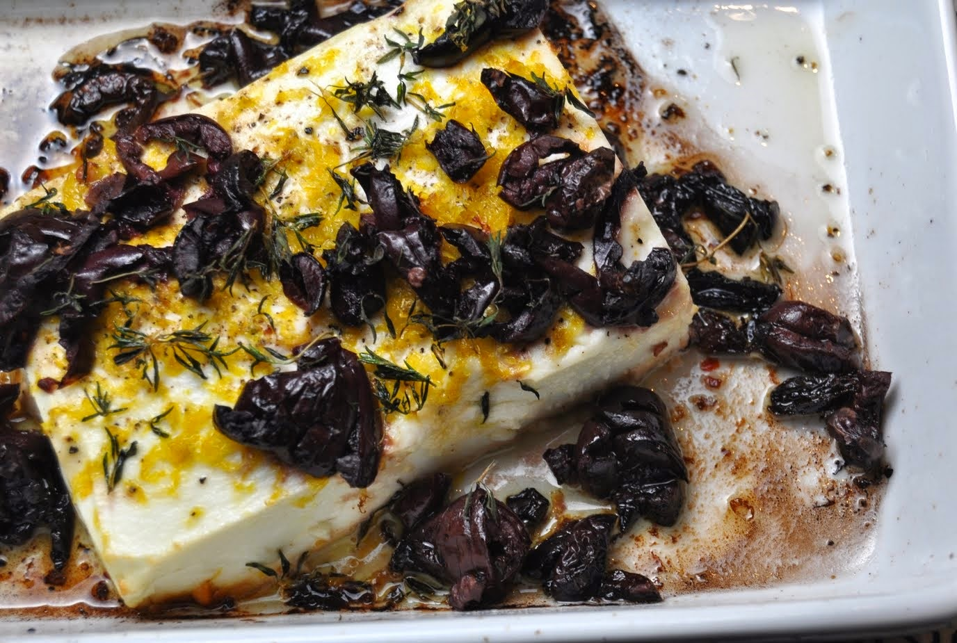 Baked Feta with Lemon Herbs Recipe