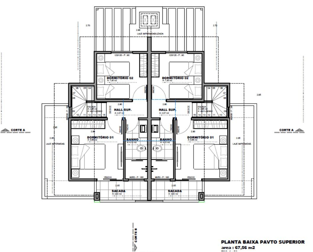 Foyer Planta Baixa : Vendo geminado em balneário piçarras planta baixa