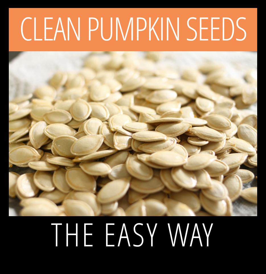 easiest way to clean pumpkin seeds for roasting