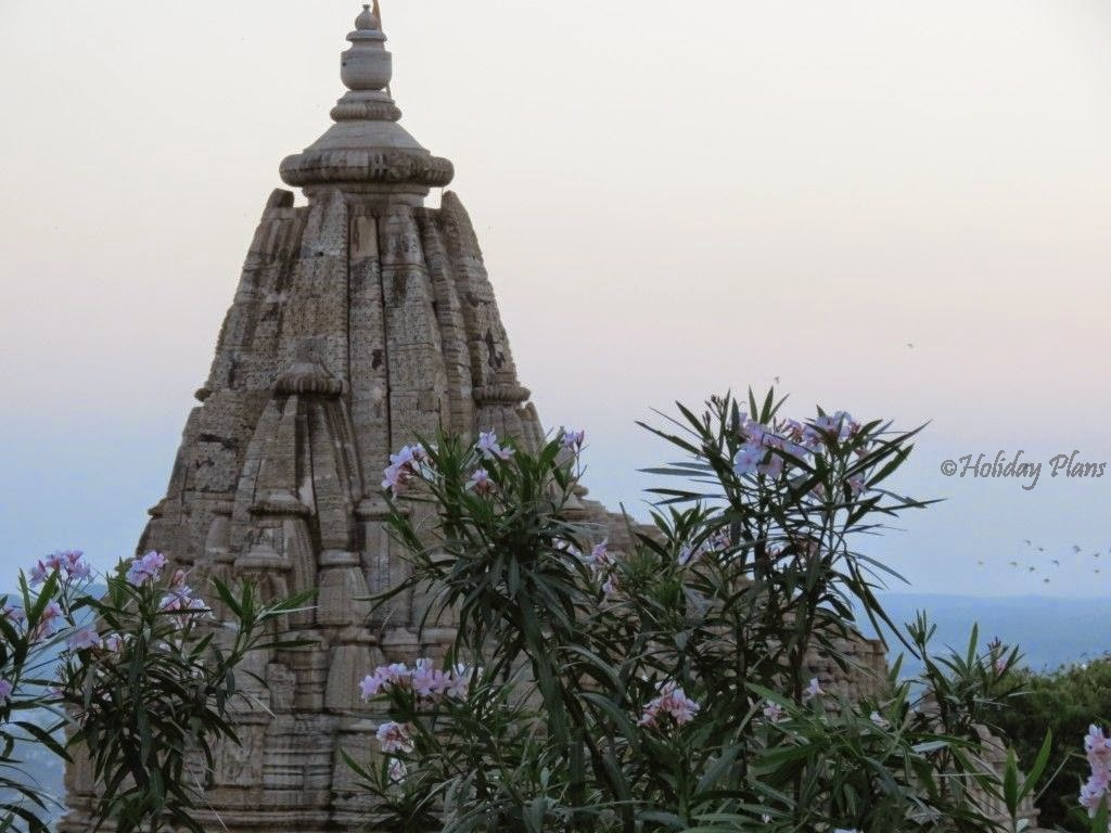 Beautiful view of Meera Temple in chittorgarh