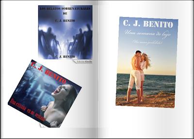 libro, una extraña en mi ventana, una semana de lujo, relatos sobrenaturales, amazon, escritor, cj benito