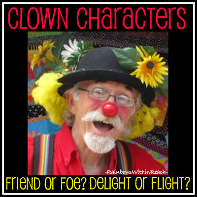 photo of: Clown Character: Friend or Foe? Delight or Flight? Childhood Fears by Debbie Clement at PreK+K Sharing
