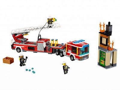 TOYS : JUGUETES - LEGO City  60112 Gran camión de bomberos   Fire Engine  Producto Oficial 2016   Piezas: 376   Edad: 5-12 años  Comprar en Amazon España & buy Amazon USA