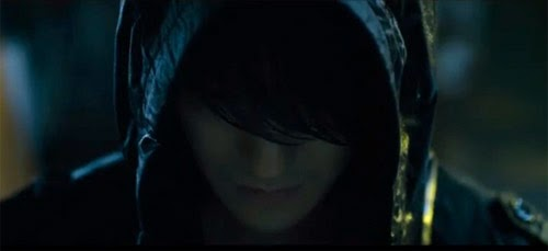 Kim Bum 김범 in a hoodie.