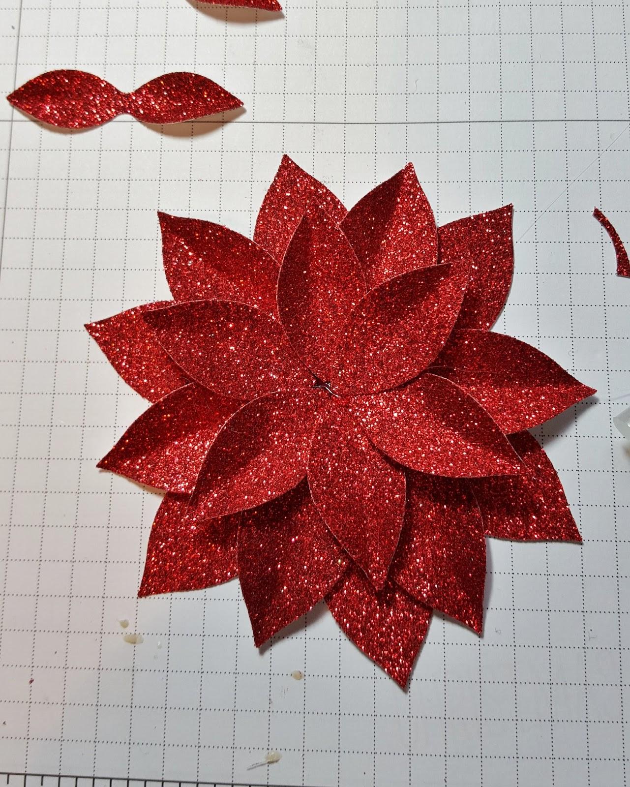 Paper Poinsettia Flower Pattern Ukrandiffusion