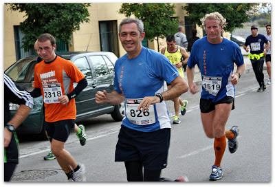 Pedro y Migue en el medio maratón de Granada