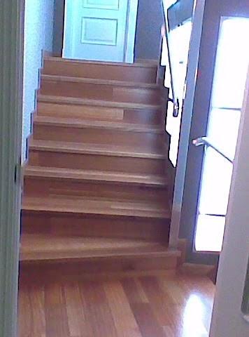 Forrado de madera de escalera muebles cansado zaragoza - Muebles en escalera ...