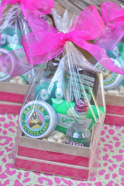Your southern peach glamping girls gift bags