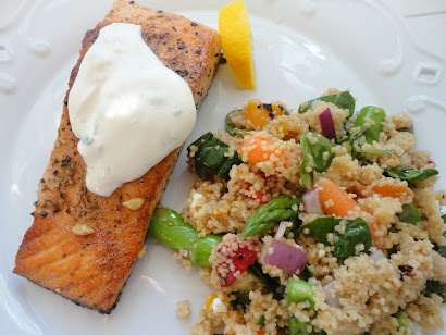 Salmon w/ Couscous Salad