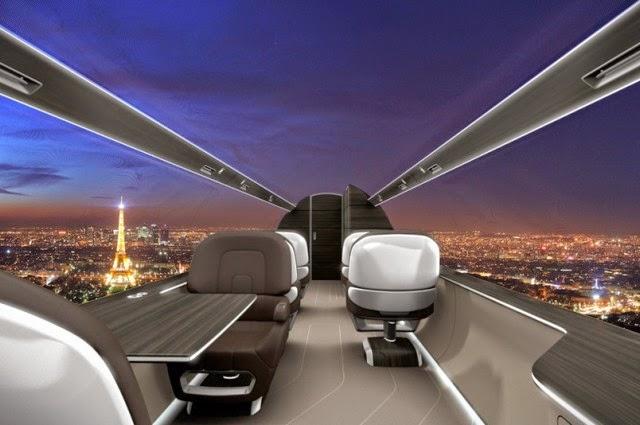 Αεροπλάνο χωρίς παράθυρα θα παρέχει στους επιβάτες πανοραμική θέα