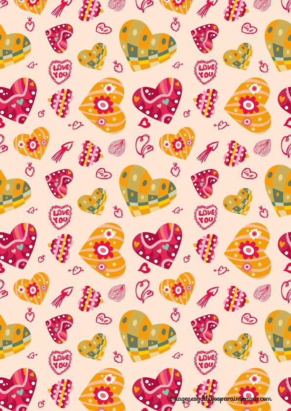Papel de corazones para imprimir