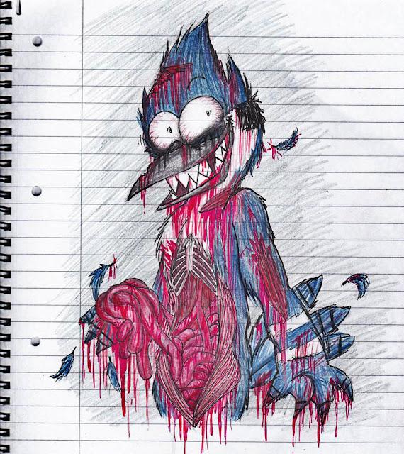 Creepy Zombie Mordecai por xXSonnyTheCatXx