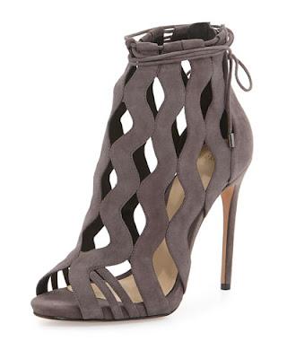 Alexandre Birman Waved caged high heeled sandal