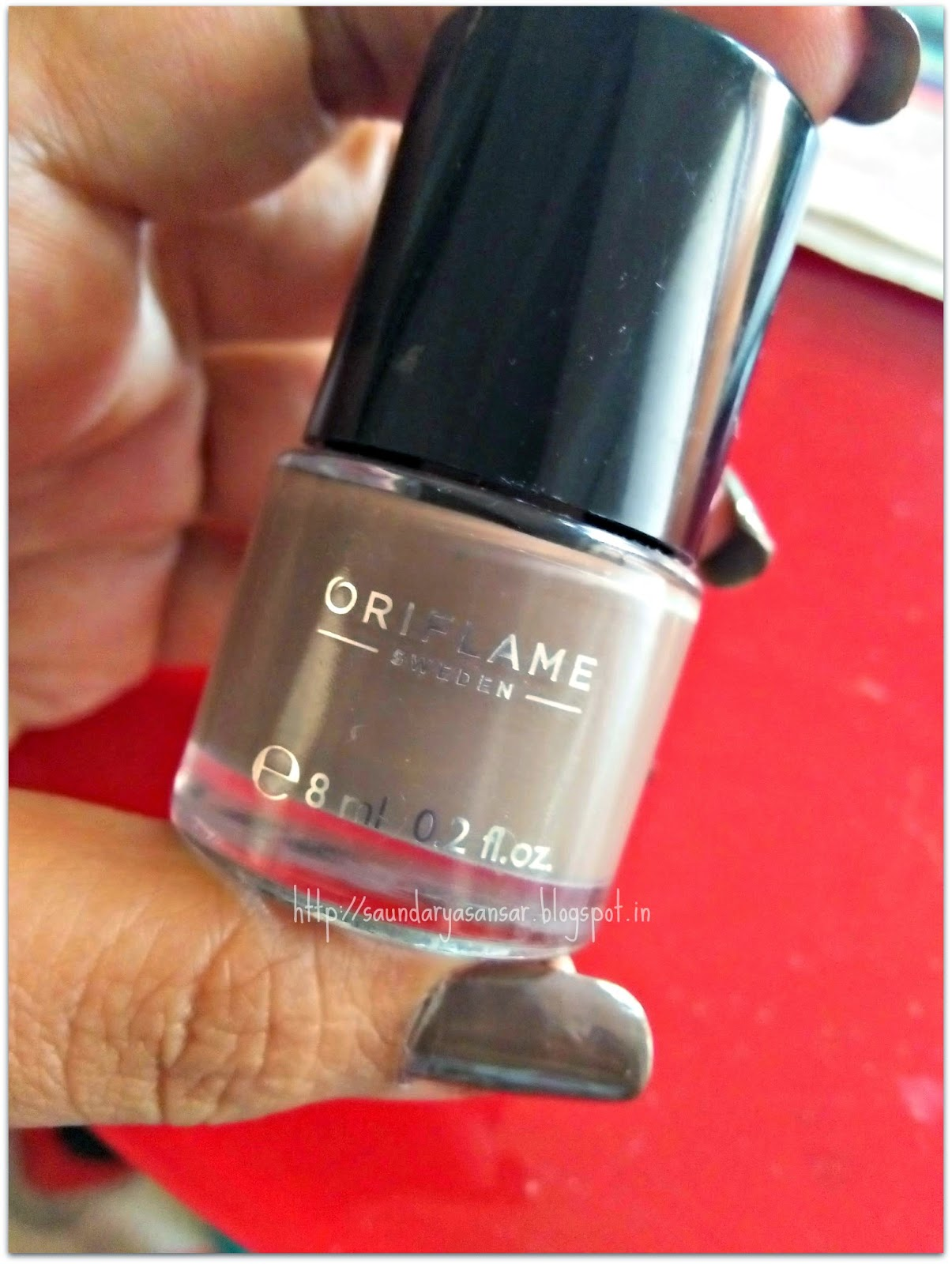 Oriflame Sweden Pure Color Nail Enamel- GlossyTaupe (Review, NOTD)