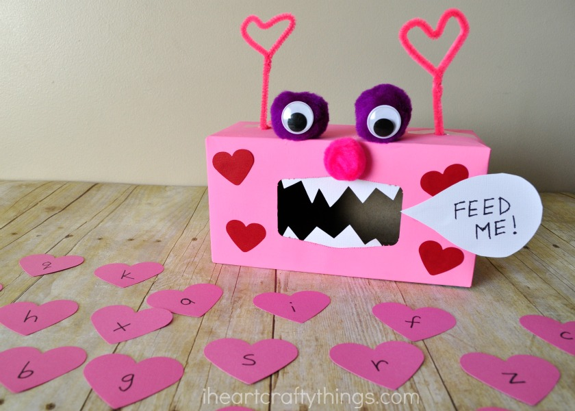 valentine monster alphabet and sight word game i heart crafty things