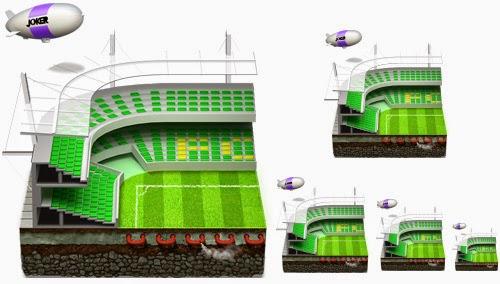 Soccer Football Stadium Icon