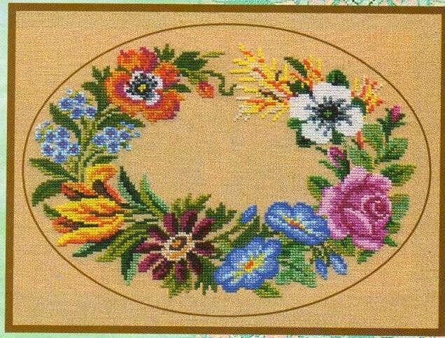 Цветы - Старинные схемы - 1