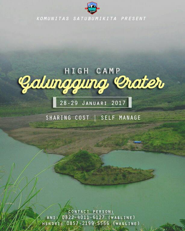 High Camp at Galunggung Crater, 28-29 Januari 2017