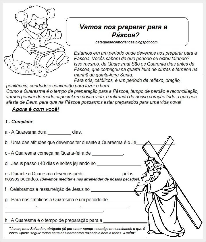 Muitas vezes Catequese com Crianças: Páscoa - Atividade para Catequese IA26