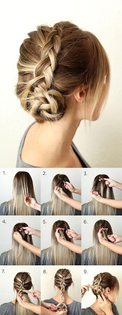 simple dutch braid step