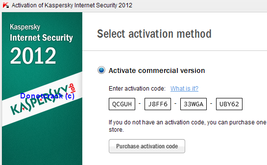 how to know kaspersky activation code