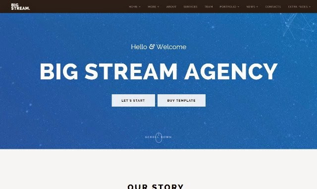 BigStream - One Page Multi-Purpose Drupal Theme
