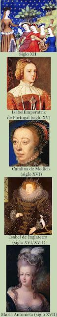 Isabel emperatriz Portugal, catalina de medicis, isabel i inglaterra, maría antonieta