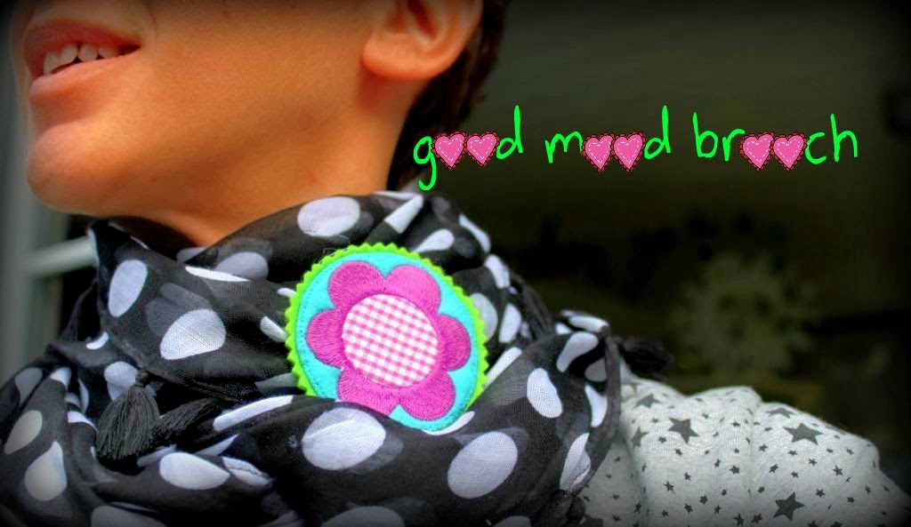 good mood brooch