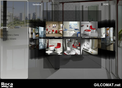 Gilcomat blog roca showroom virtual en for Roca showroom